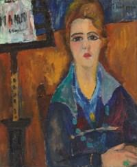 La femme au collier, modèle de Modigliani