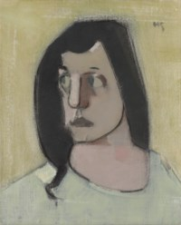 Mustatukkainen nainen / Kvinna med svart hår / Woman with Black Hair