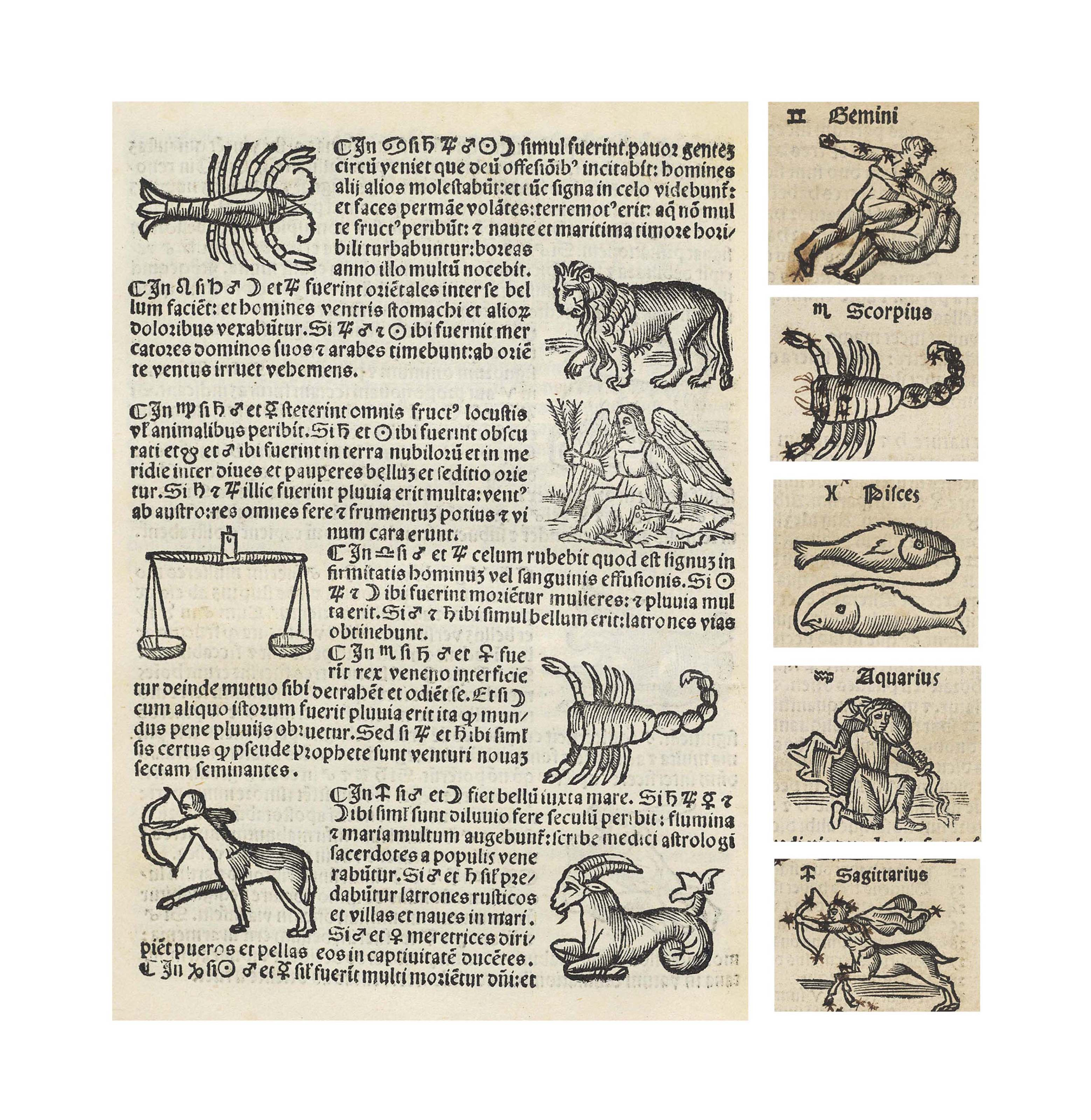 LEOPOLD OF AUSTRIA (13th century). Compilatio ... de astrorum scientia decem continentis tractatus. Venice: [Jacobus Pentius, for] Melchior Sessa and Petrus de Ravanis, 15 July 1520.