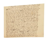 NEWTON, Isaac (1642-1727). Autograph manuscript, a draft for a theological tract on Christian doctrine focusing on the Book of Revelation, n.d. [1710s-1720s].