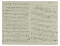 EINSTEIN, Albert (1879-1955). Autograph letter signed ('Albert') to Michele Besso, [Berlin], 31 October 1916.