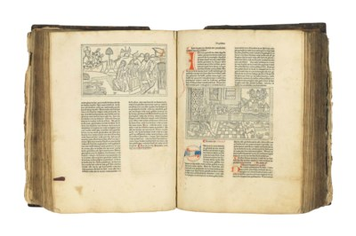 BIBLE, IN LOW GERMAN. With glo