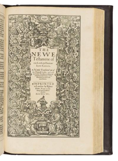 BIBLE, English. The Holy Bible