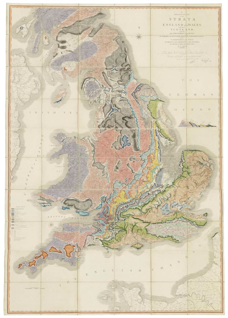 William Smith (1769-1830), A Delineation of the Strata of England and Wales, with part of Scotland. 1815. Sold for £62,500 on 13 December 2017 at Christie's in London