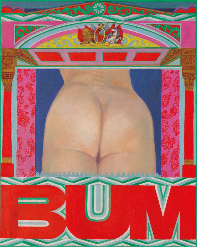 Pauline Boty (1938-1966), Bum. 30 x 24  in (76.2 x 61  cm). Sold for £632,750 on 22 November 2017 at Christie's in London © The Estate of Pauline Boty