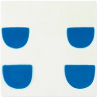 Four Forms, Blue on White