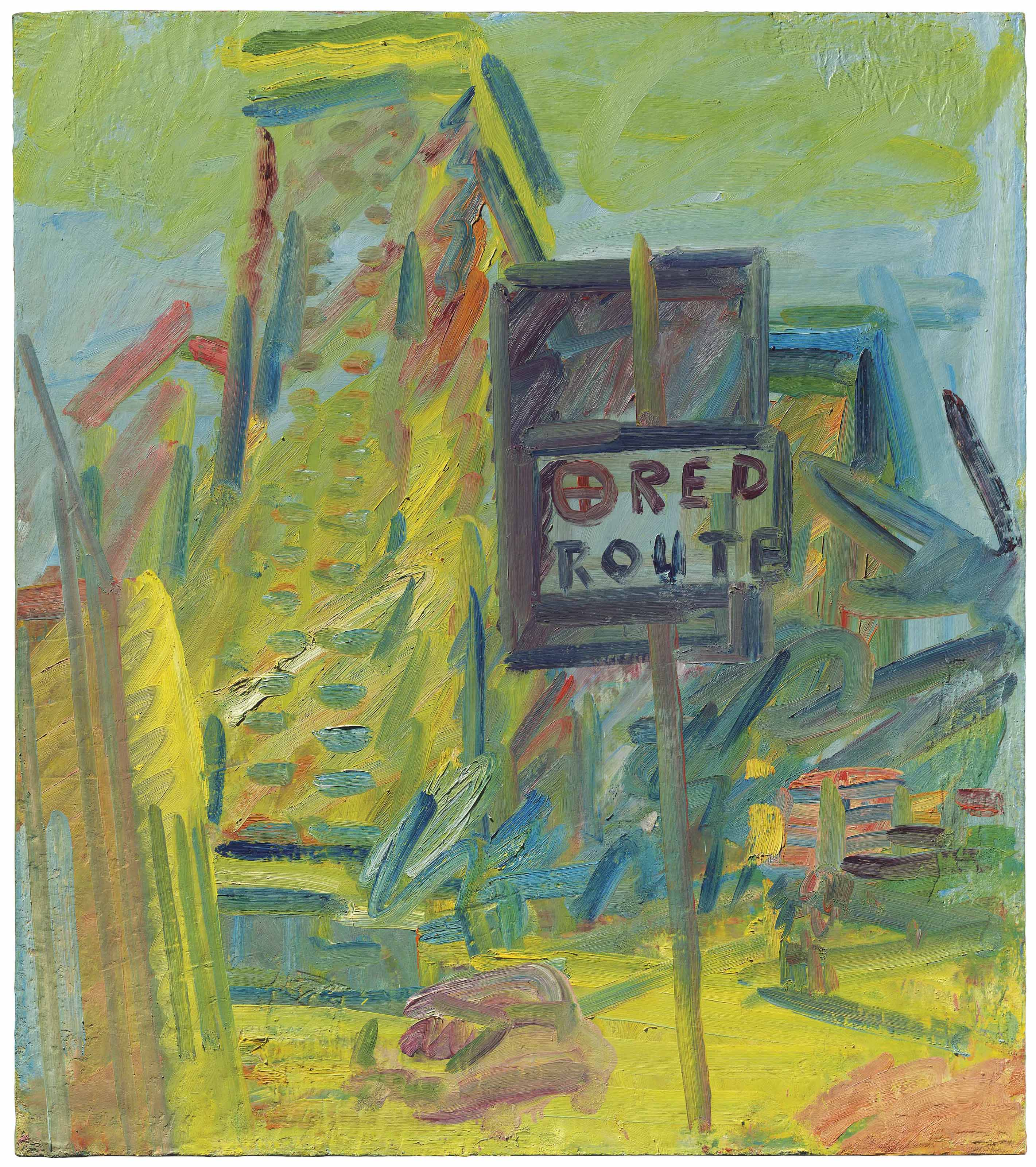 Frank Auerbach (b. 1931) | Tower Block Hampstead Road | 20th Century,  Paintings | Christie's