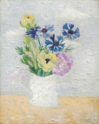 Flowers in a White Mug
