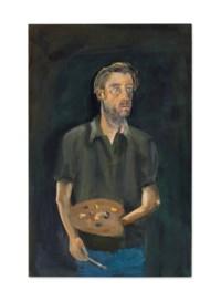 Selbstporträt mit Palette (Self-portrait with Palette)