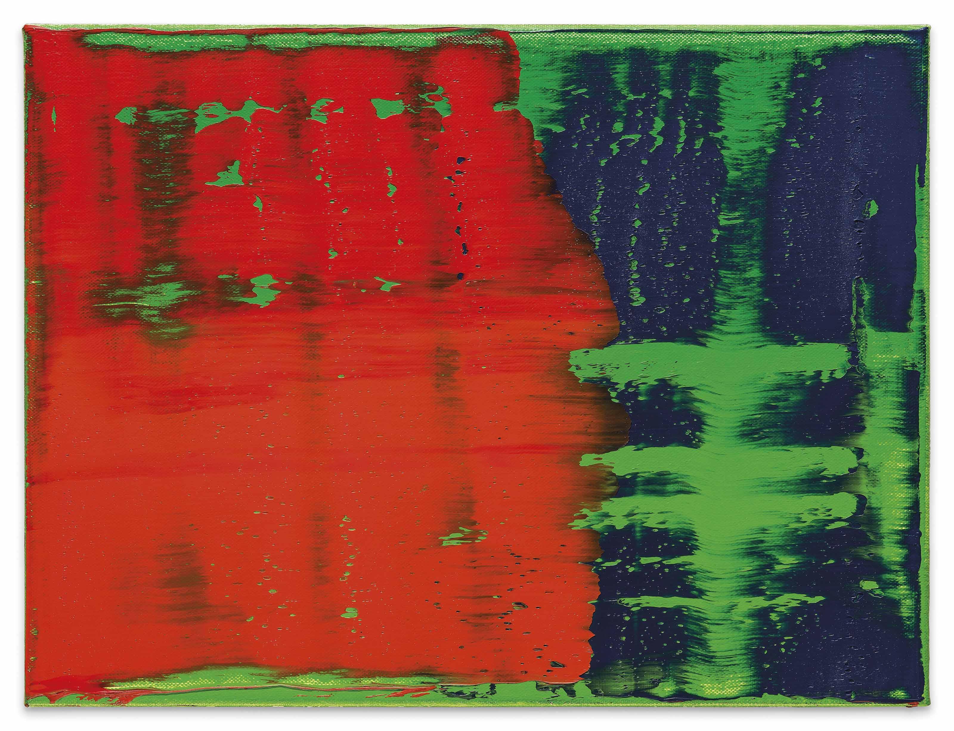Parkett Richter gerhard richter b 1932 grün blau rot für parkett 35 green
