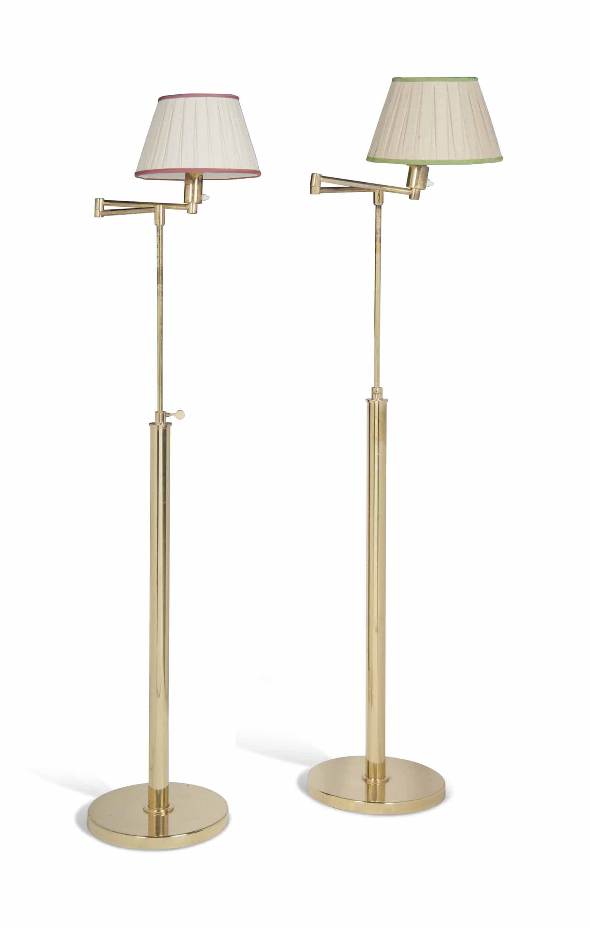 A Pair Of Br Adjule Articulated Floor Lamps Modern Christie S