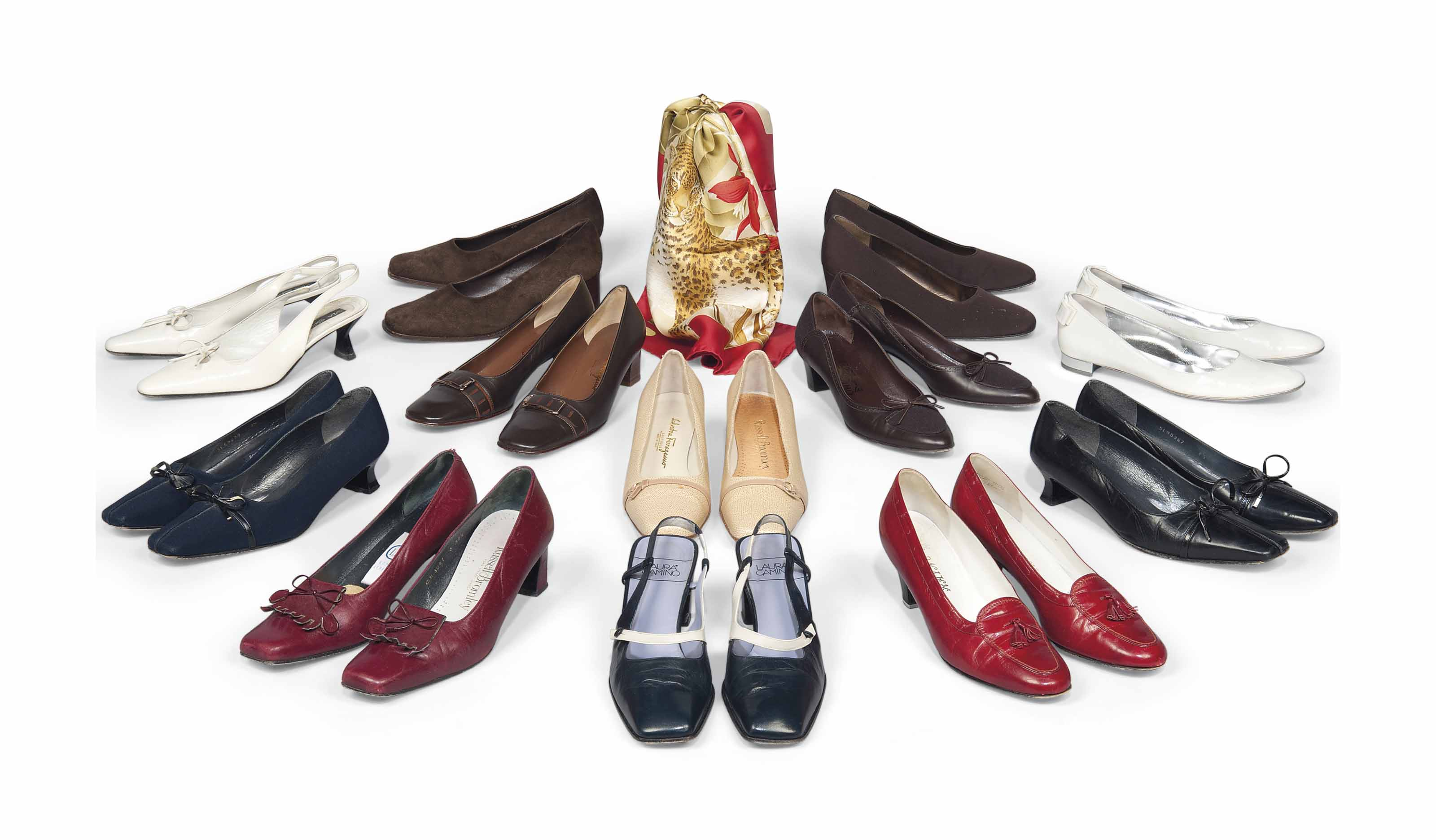 TWELVE PAIRS OF DAY SHOES