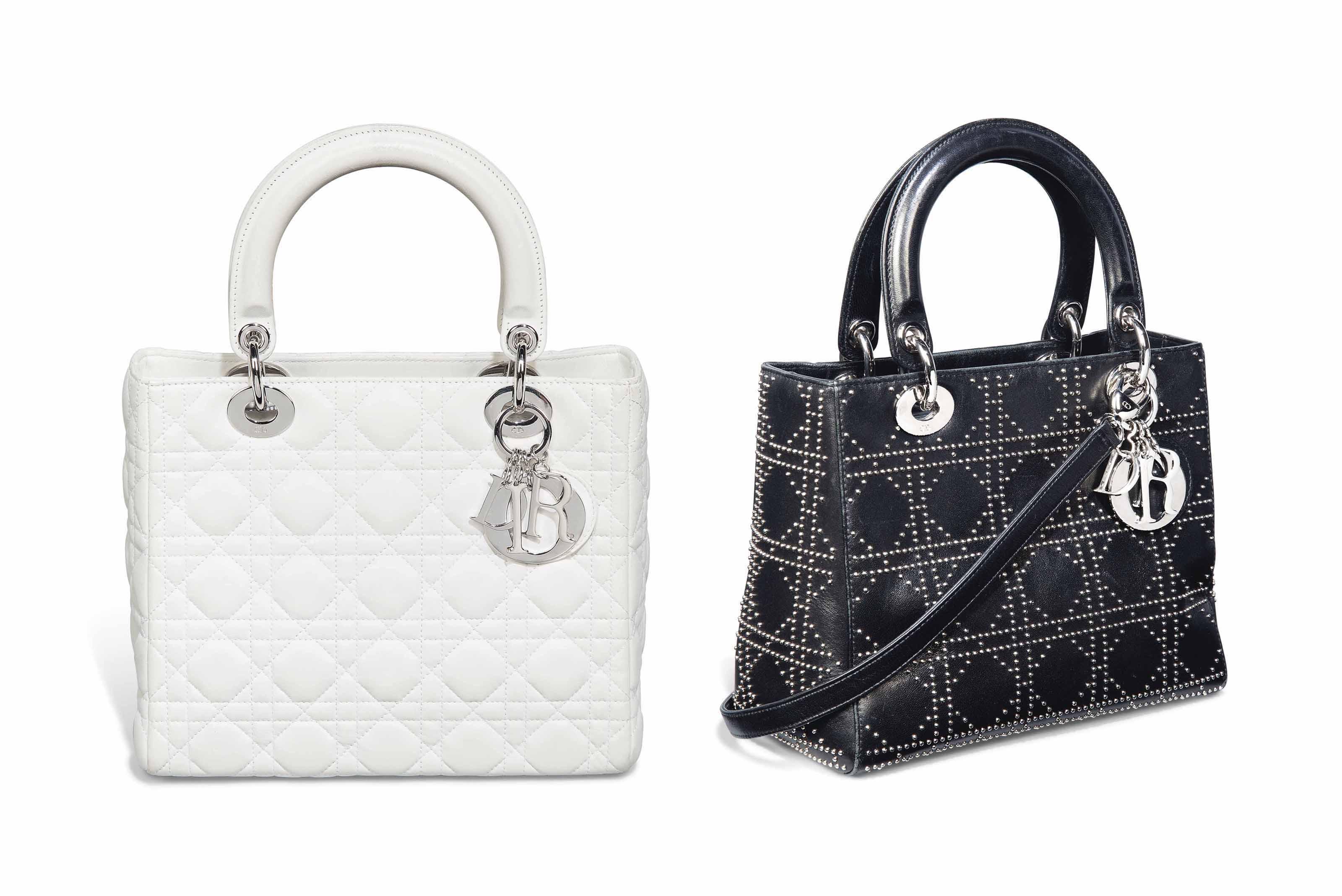 Two Lady Dior Handbags