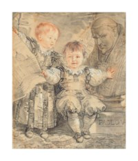 Portrait of the princes Camillo and Francesco Borghese as young boys