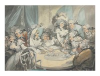 A gaming table at Devonshire House, London: Georgiana, Duchess of Devonshire, Harriet, Lady Duncannon, the Prince of Wales and others gambling