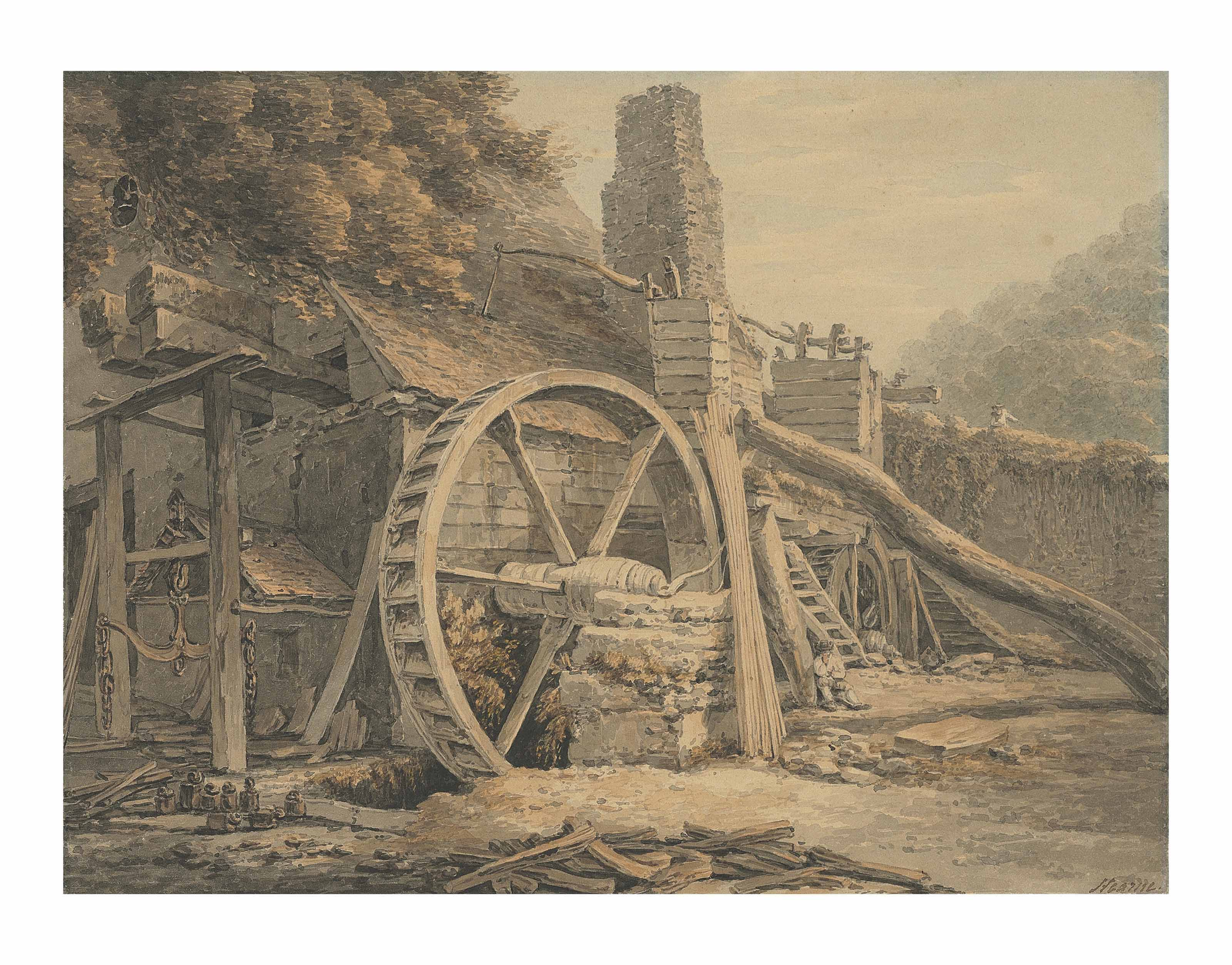 The iron forge at Tintern, Monmouthshire