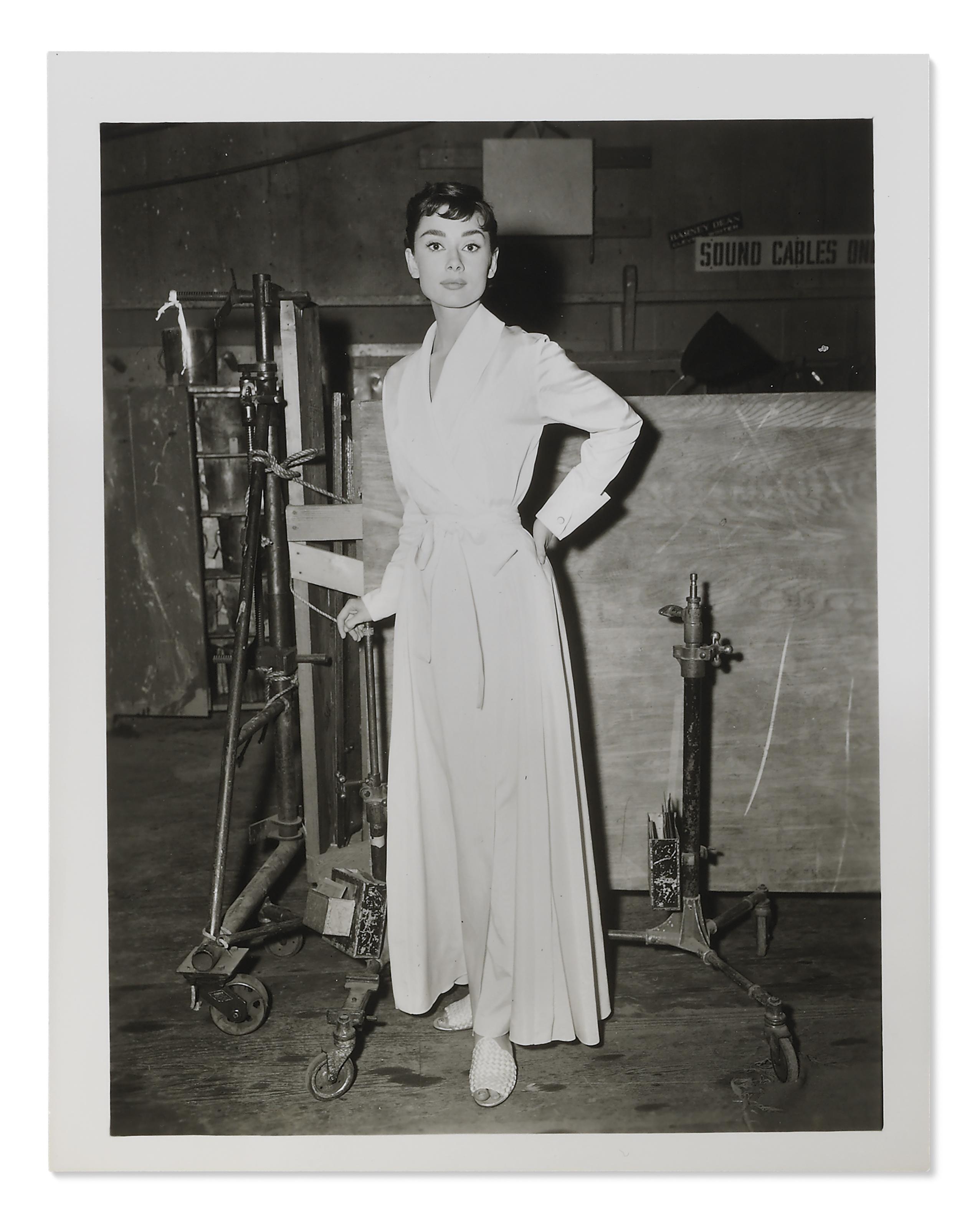 SABRINA, 1954 , Audrey Hepburn on the set of the 1954 ...