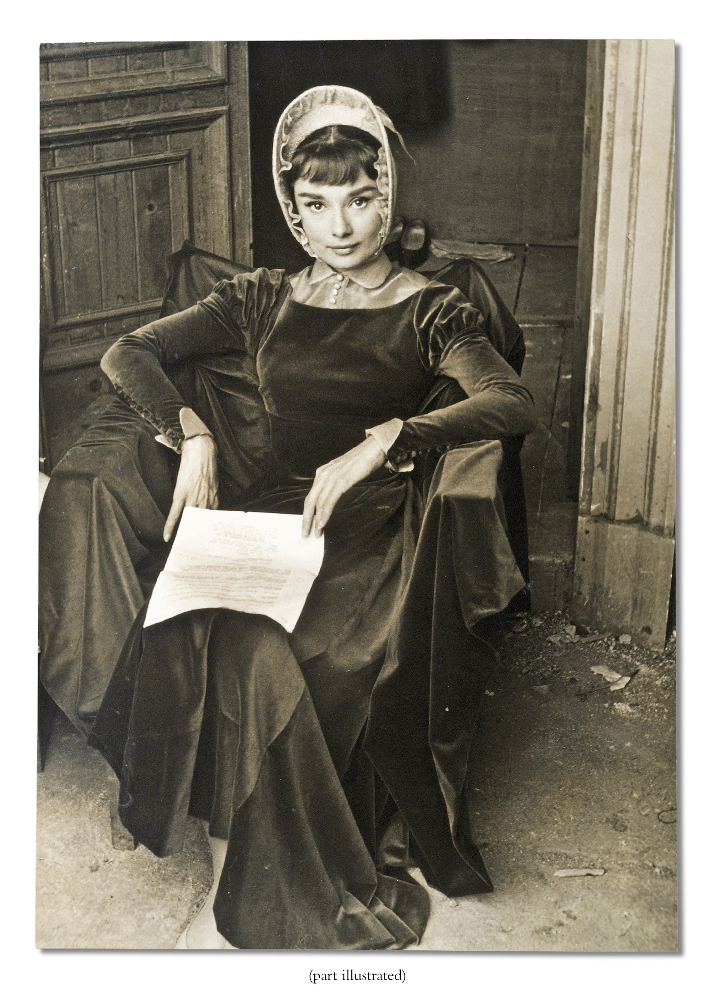 Audrey Hepburn as Natasha Rostov in the 1956 Paramount production War and Peace, Rome, 1955 two gelatin silver publicity portraits one with stamped photographer's credit (verso)