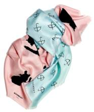 TWO SILK SCARVES