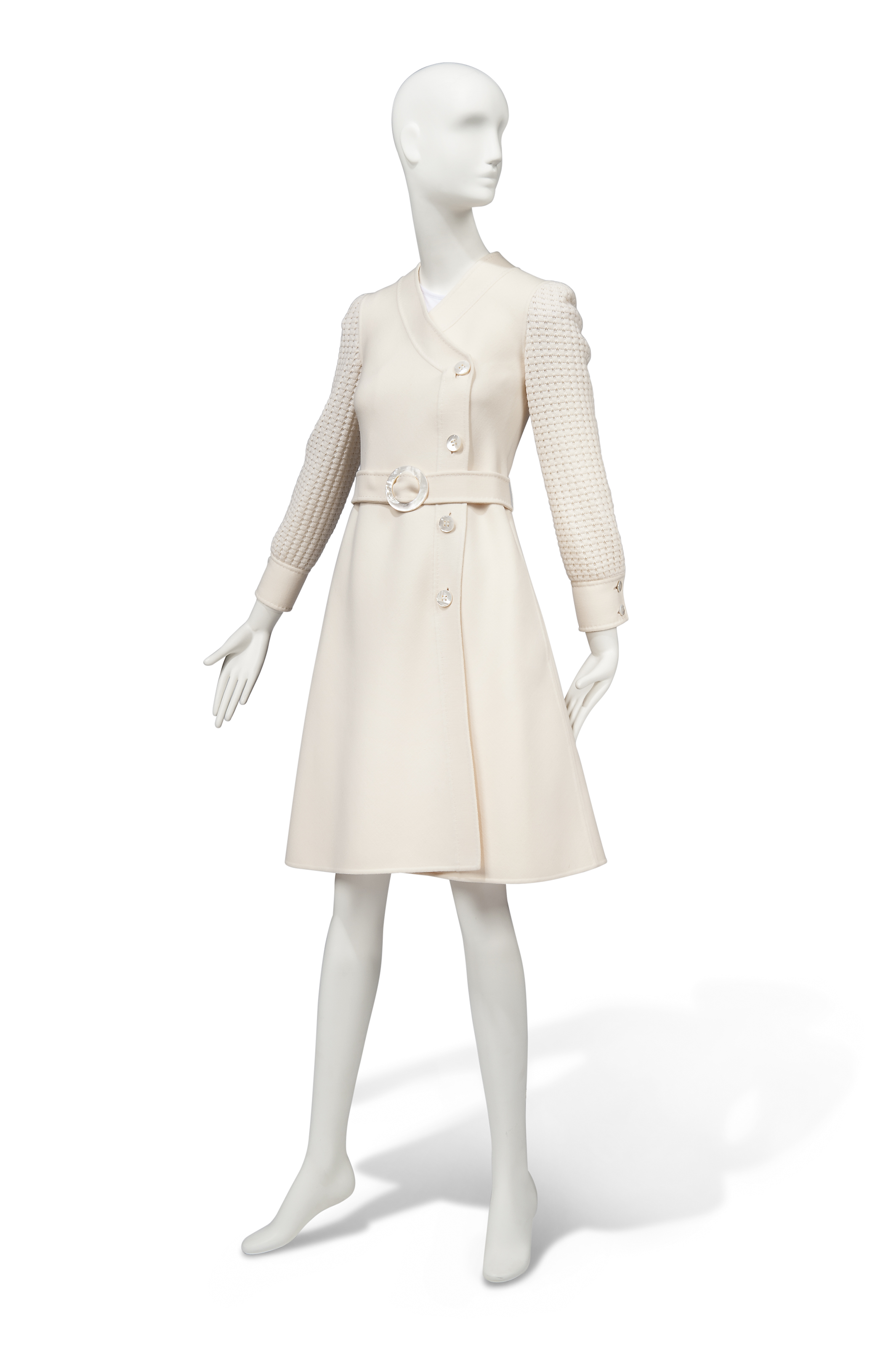 AN IVORY COAT DRESS