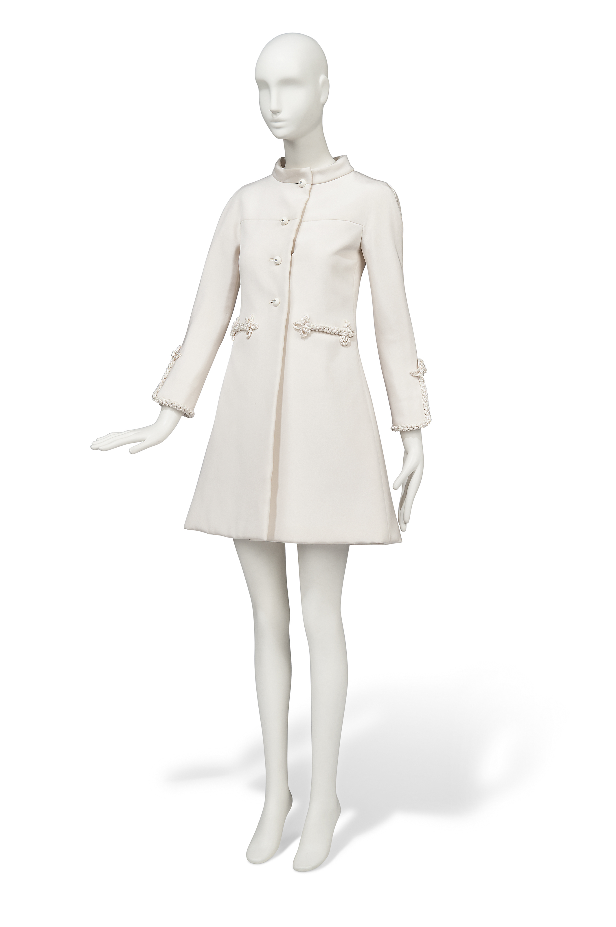 A WHITE SILK GAZAR COAT