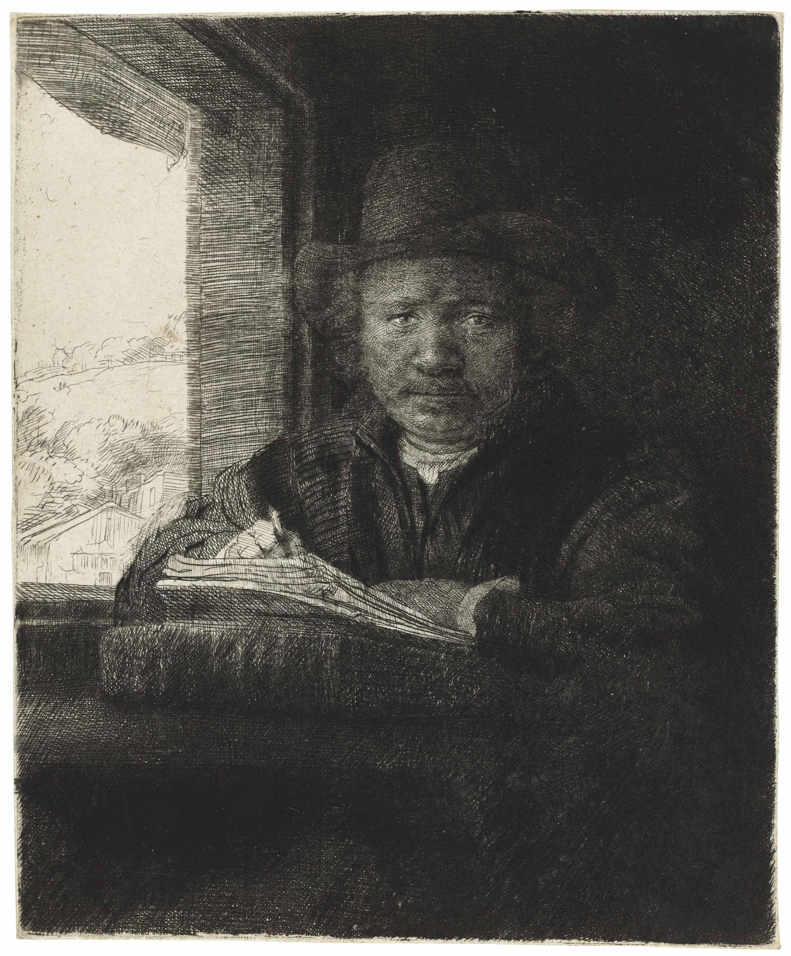 REMBRANDT HARMENSZ. VAN RIJN (1606-1669) , Self-Portrait ...