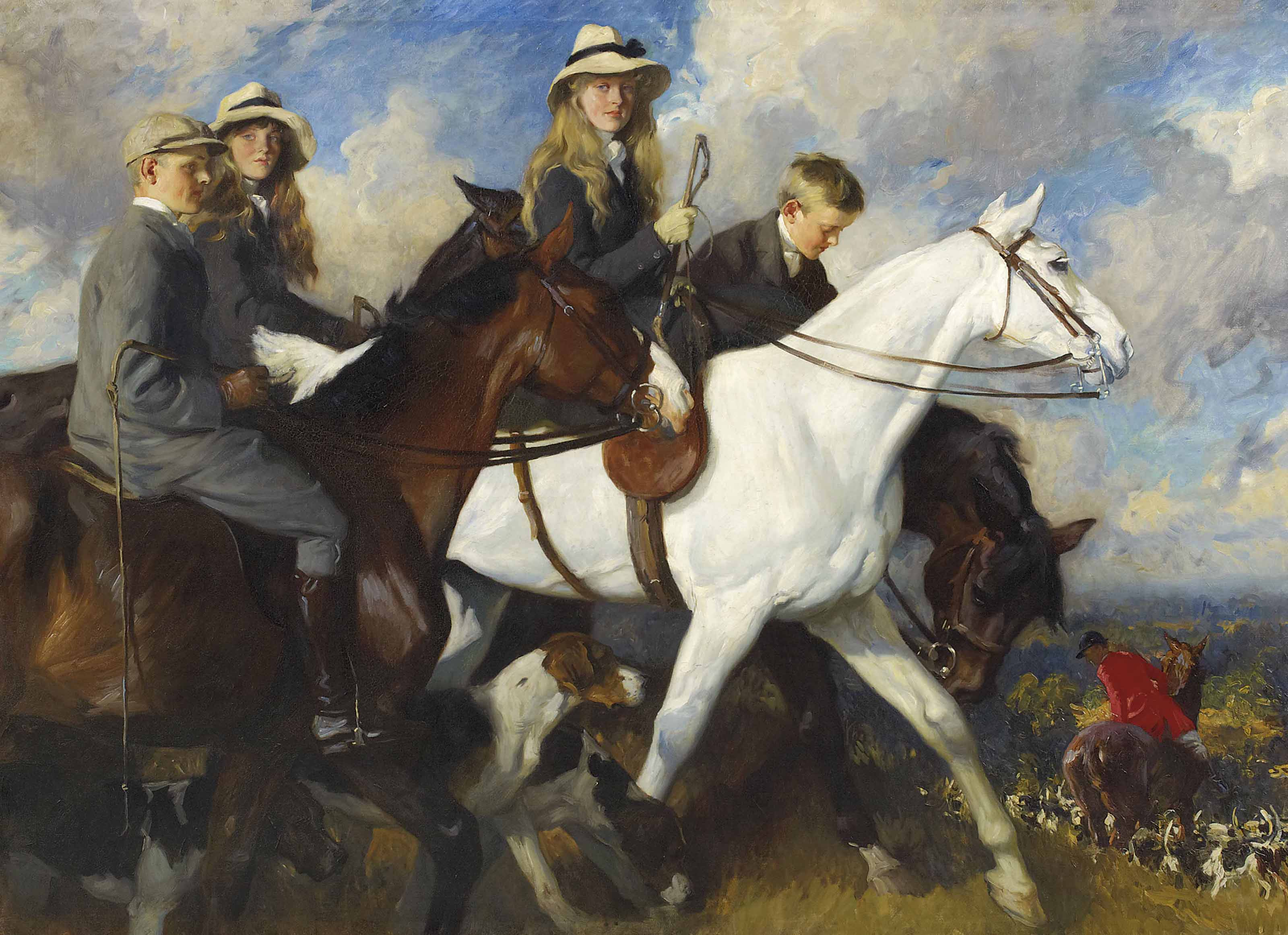 With the York and Ainsty - The Children of Mr Edward Lycett Green, M.F.H.