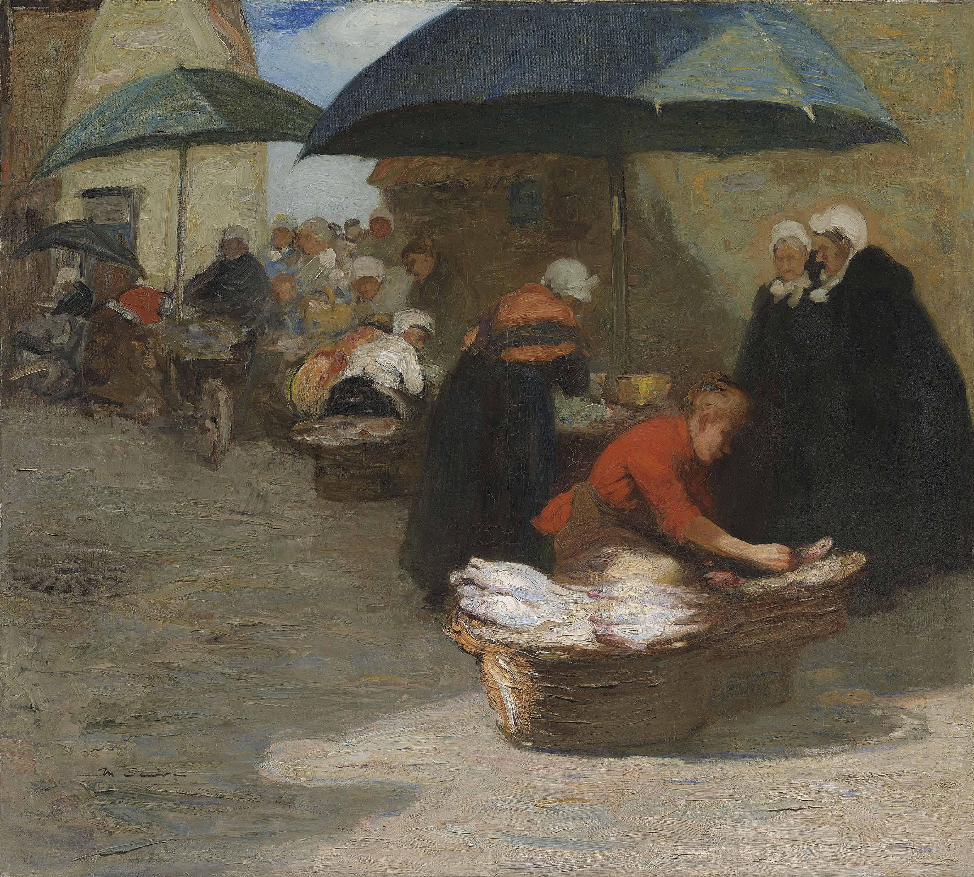 A Flemish fishmarket