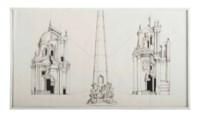 4 Alternative Designs for the Piazza Del Popolo in the Style of Carlo Rainaldi