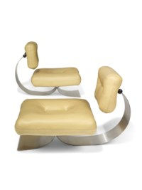 A pair of 'Alta' lounge chairs