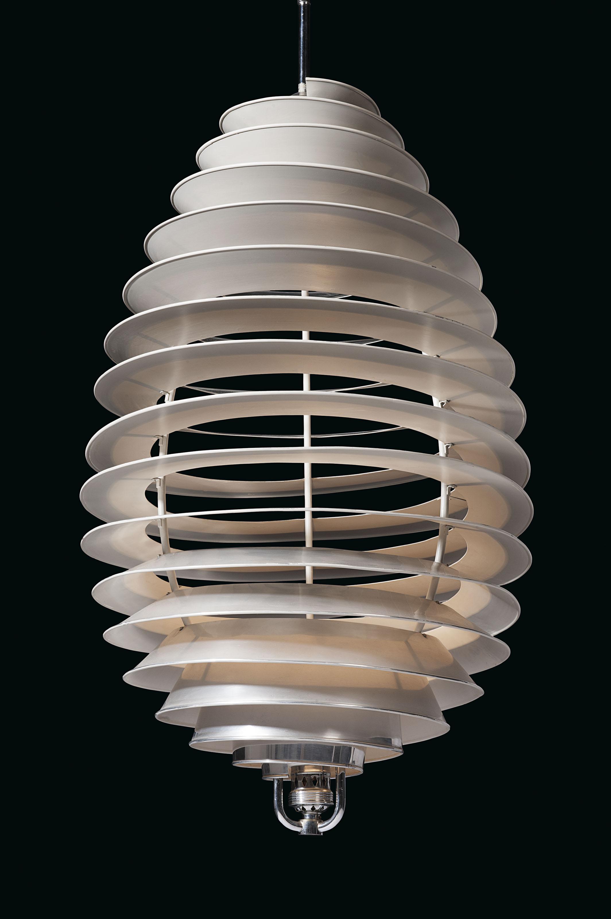 A rare 'Spiral' ceiling light