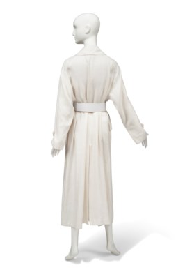A WHITE LINEN EVENING COAT
