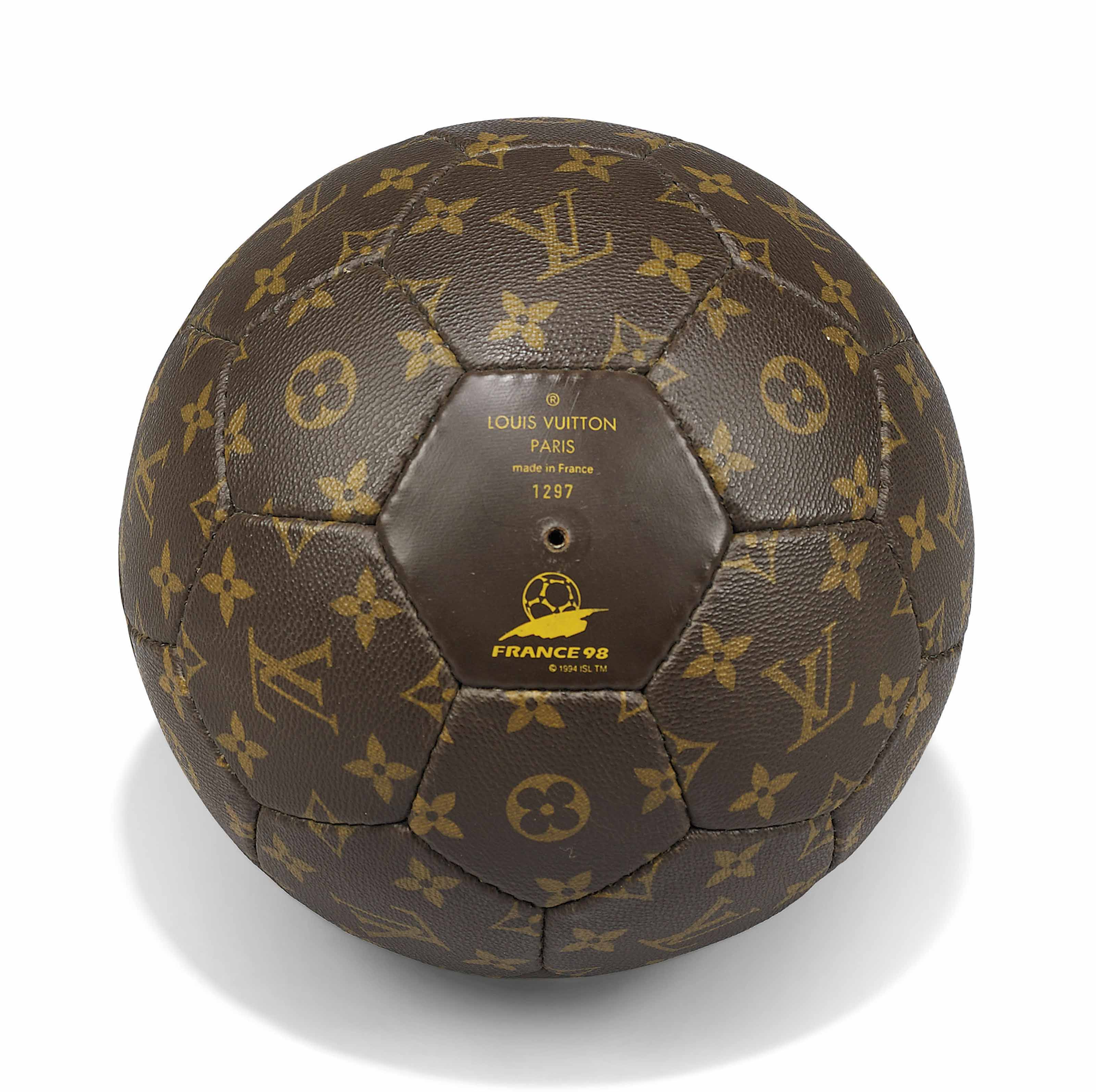 b3cc842ea4fc A LIMITED EDITION MONOGRAM CANVAS 1998 FRANCE WORLD CUP FOOTBALL WITH  NOMADE LEATHER CARRIER