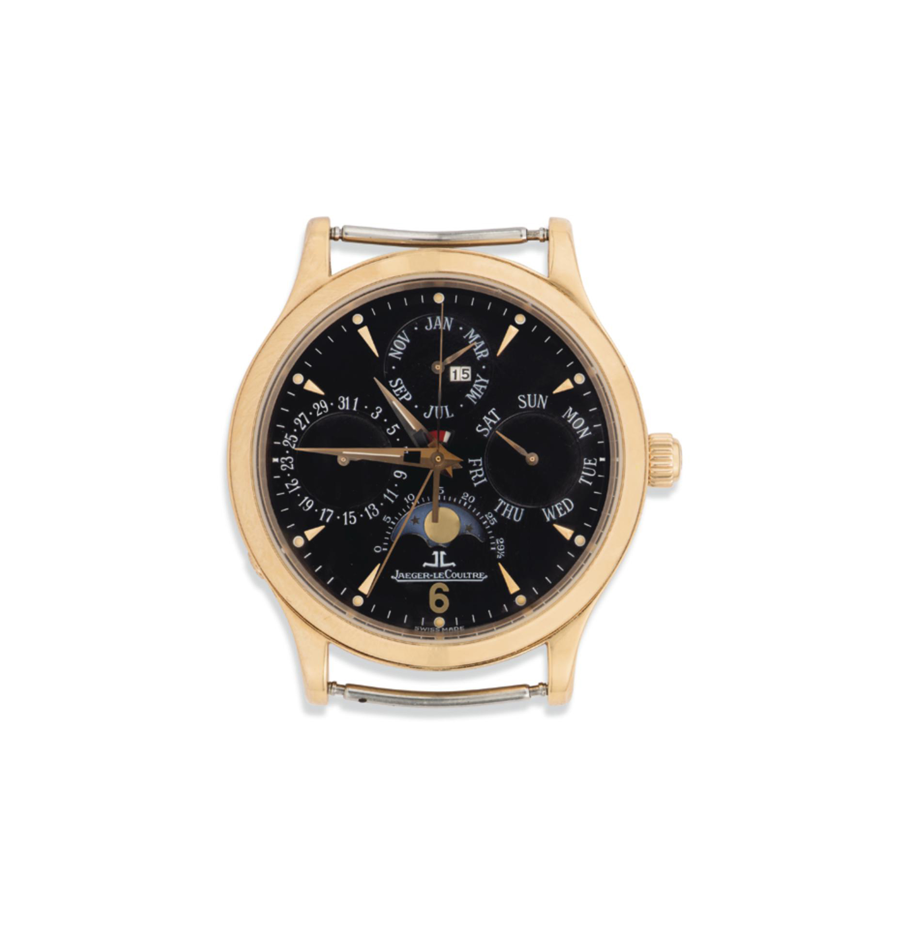 AN 18CT PINK GOLD AUTOMATIC PERPETUAL CALENDAR 'MASTER CONTR...