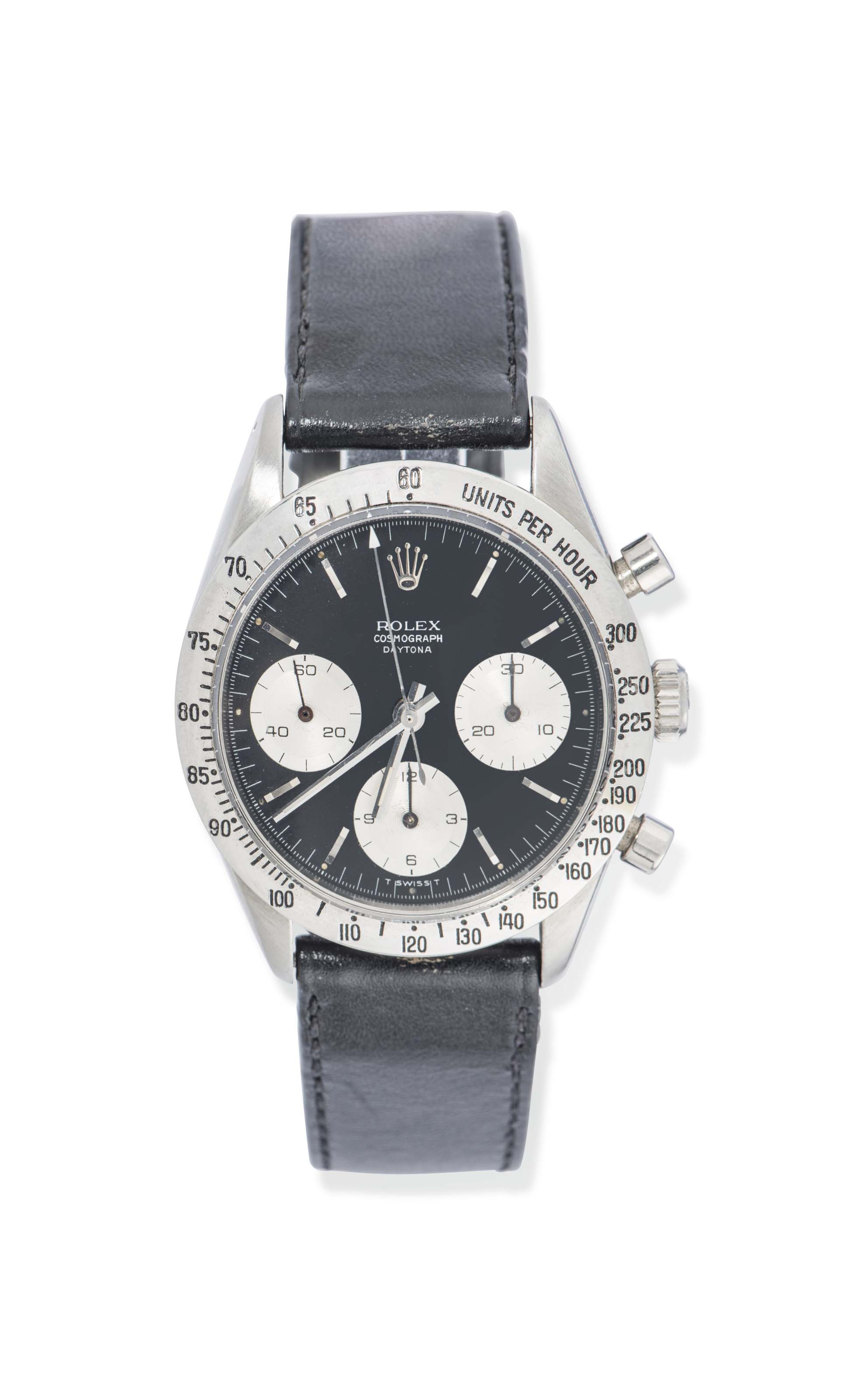 A STAINLESS STEEL 'COSMOGRAPH DAYTONA' CHRONOGRAPH WRISTWATCH, BY ROLEX REF. 6239