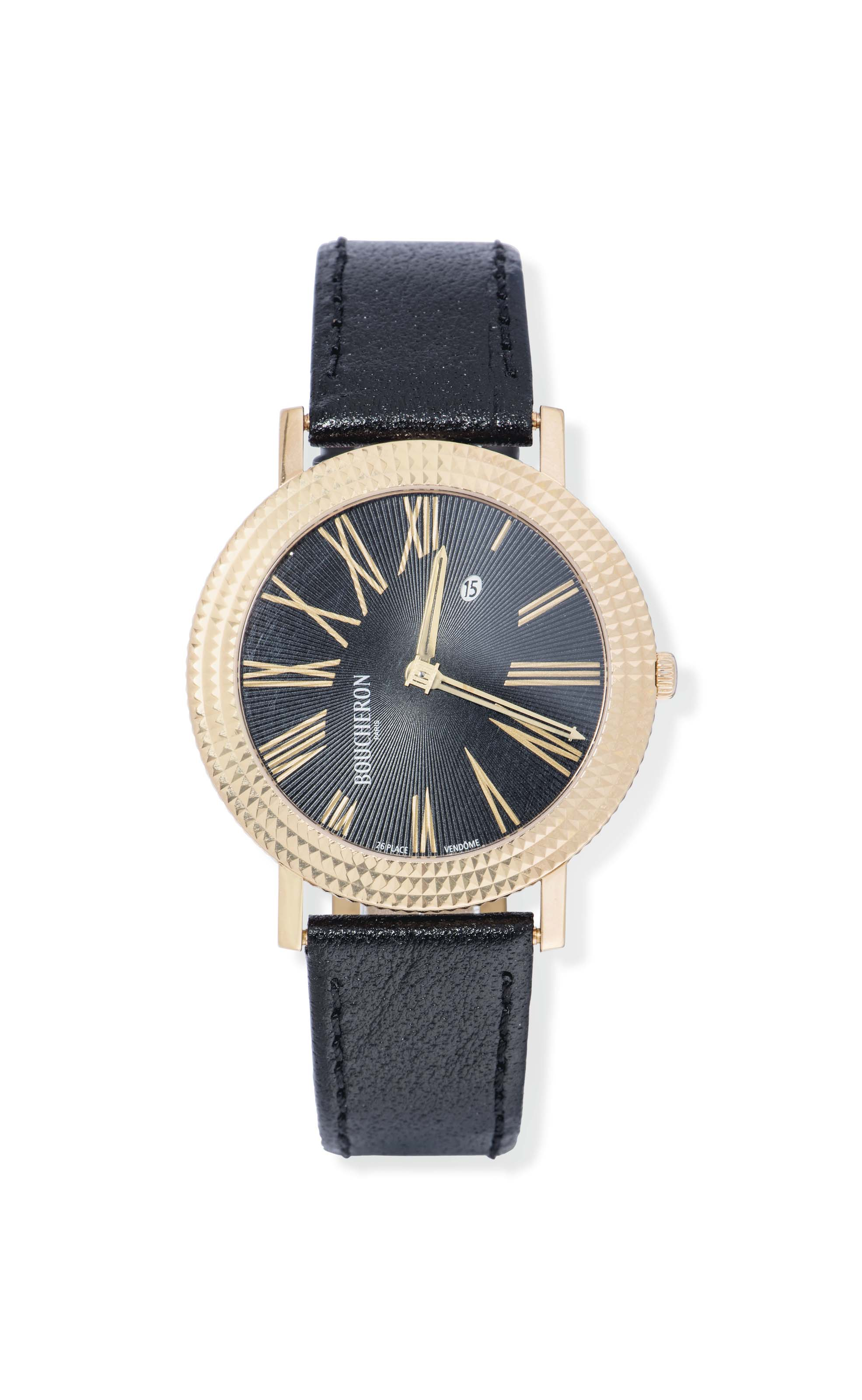 AN 18CT PINK GOLD 'REFLET RONDE' QUARTZ WRISTWATCH, BY BOUCH...