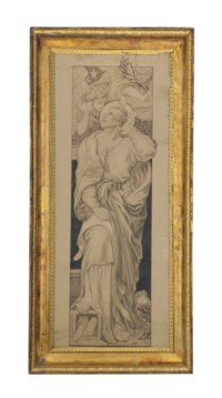 St Matthew: Design for a stained glass window