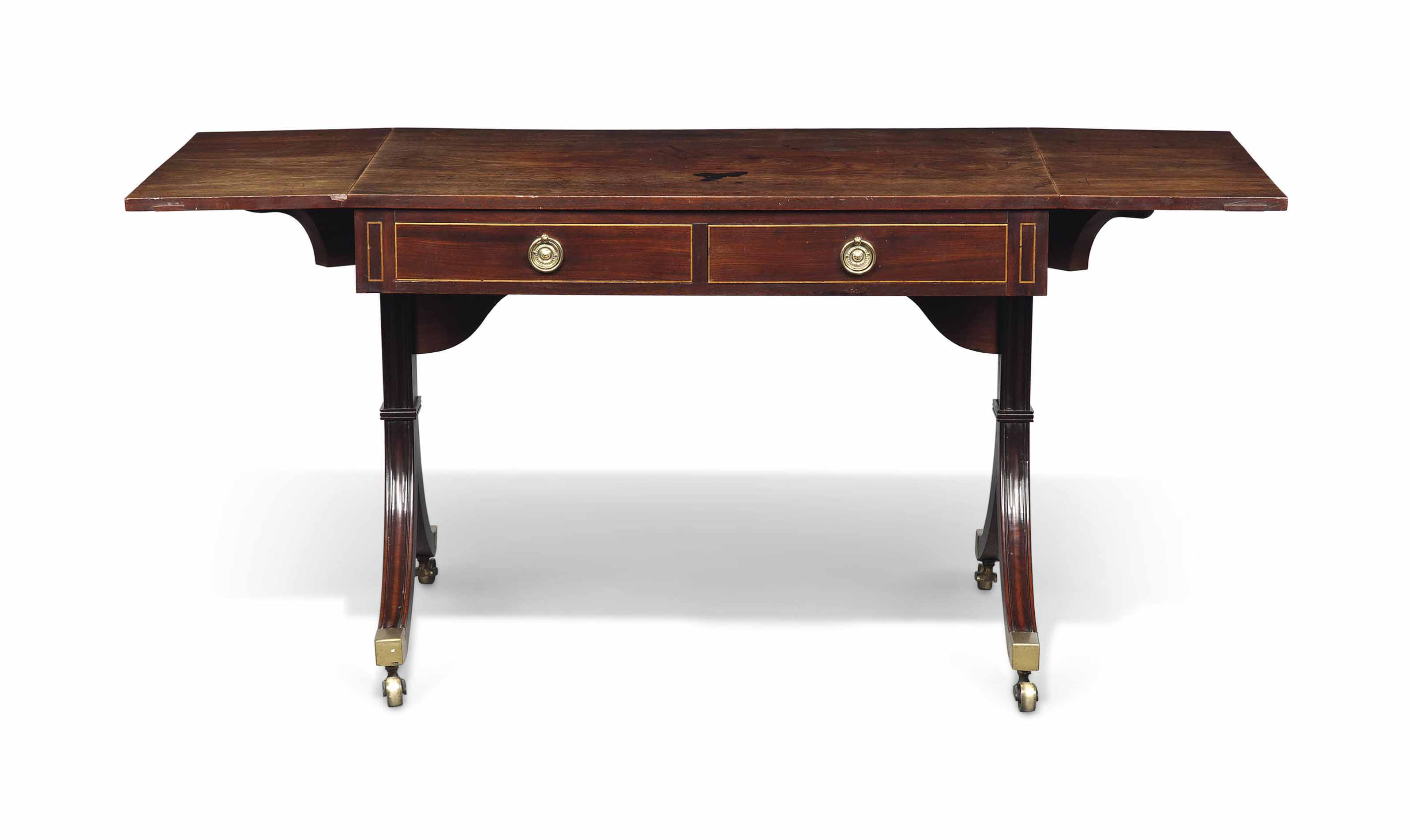 A REGENCY MAHOGANY SOFA TABLE