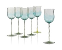 A MATCHED SET OF JAMES POWELL & SONS WINE GLASSES