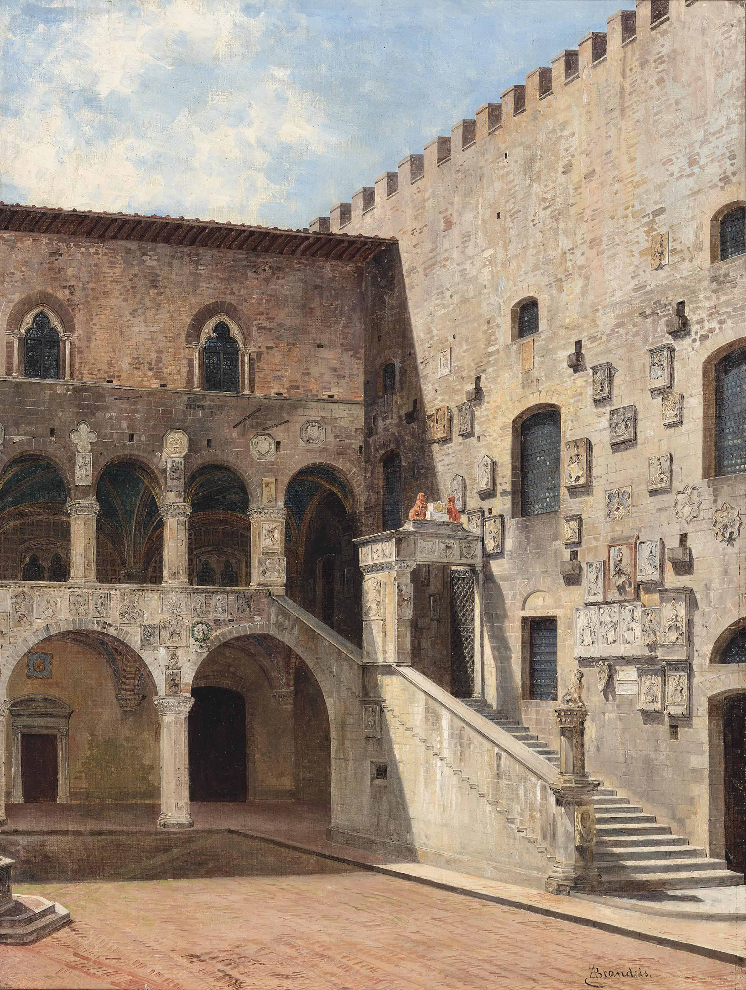 The courtyard at the Palazzo del Bargello, Florence