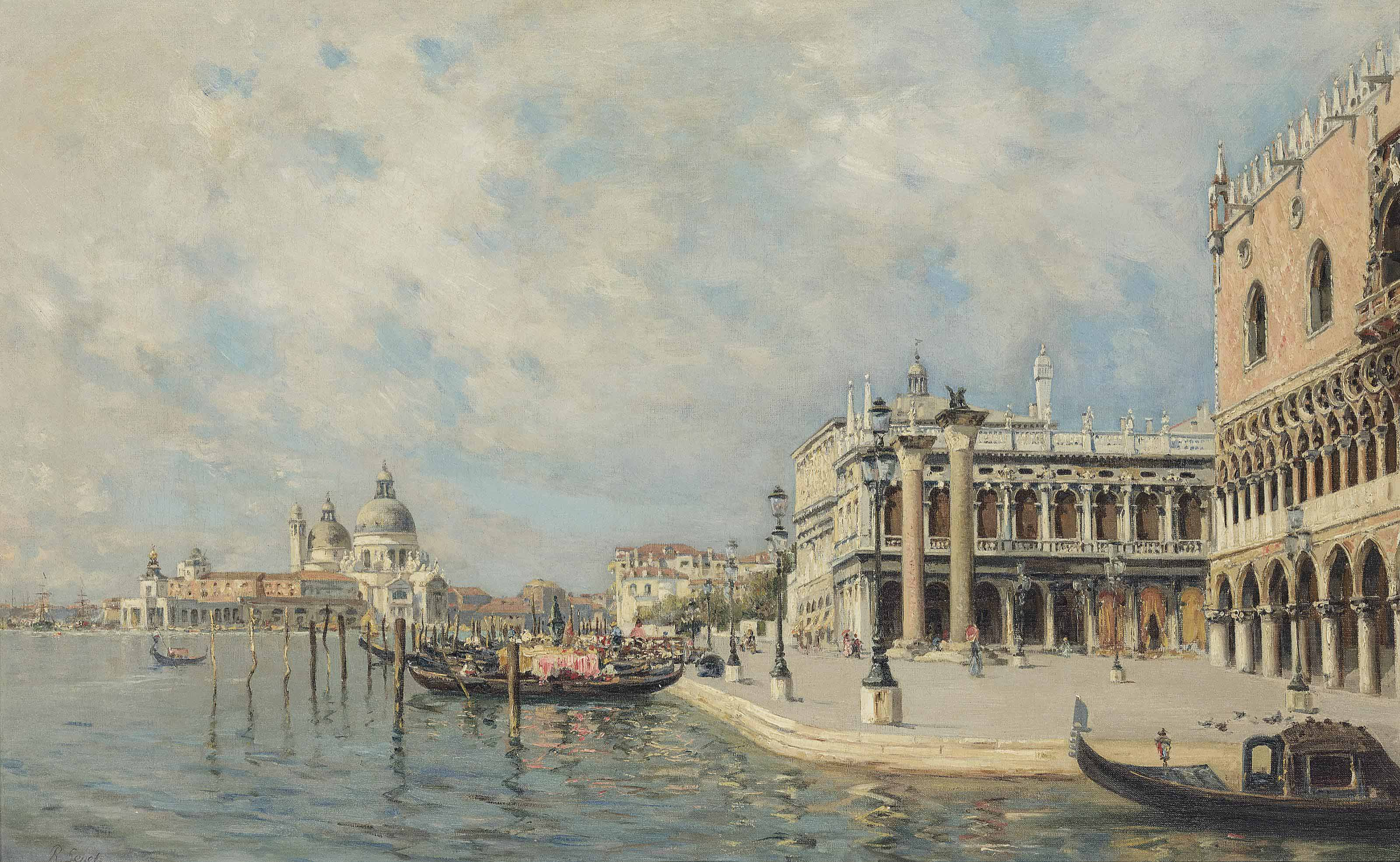 View towards St. Mark's Square with Santa Maria della Salute in the distance