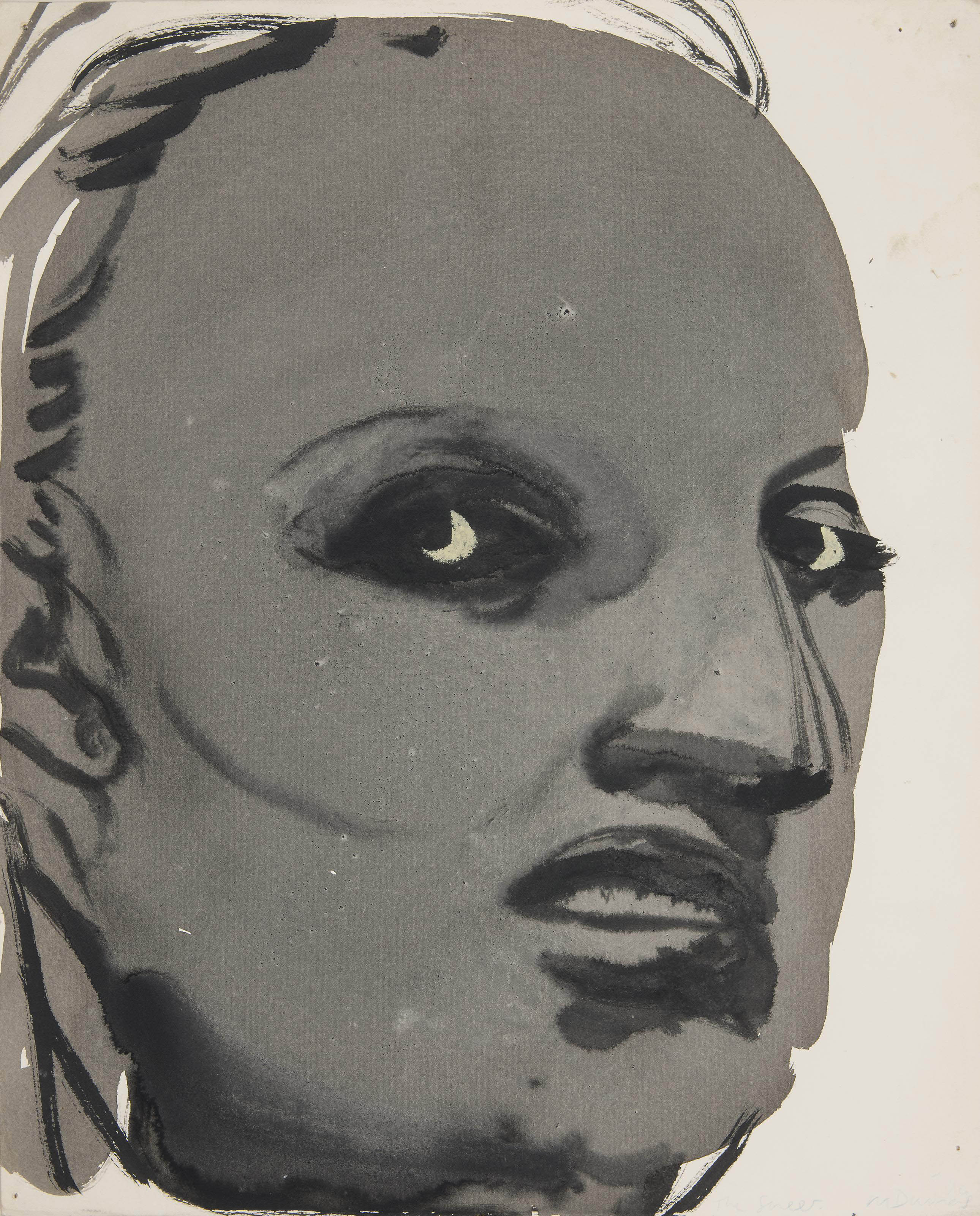 Marlene Dumas (B  1953) | The Sneer | Paintings