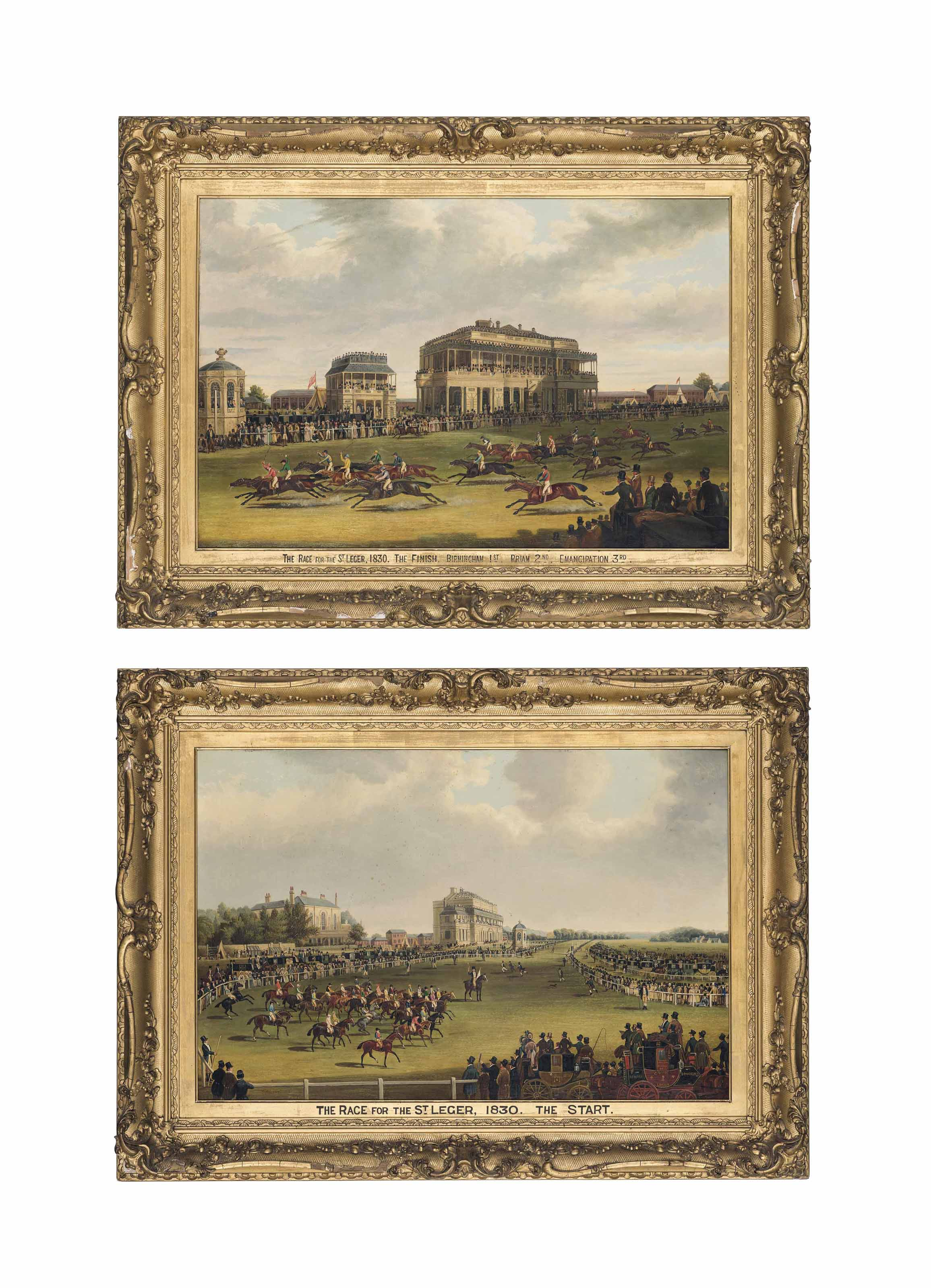 The race for the St Leger, 1830: The Start; and The Finish