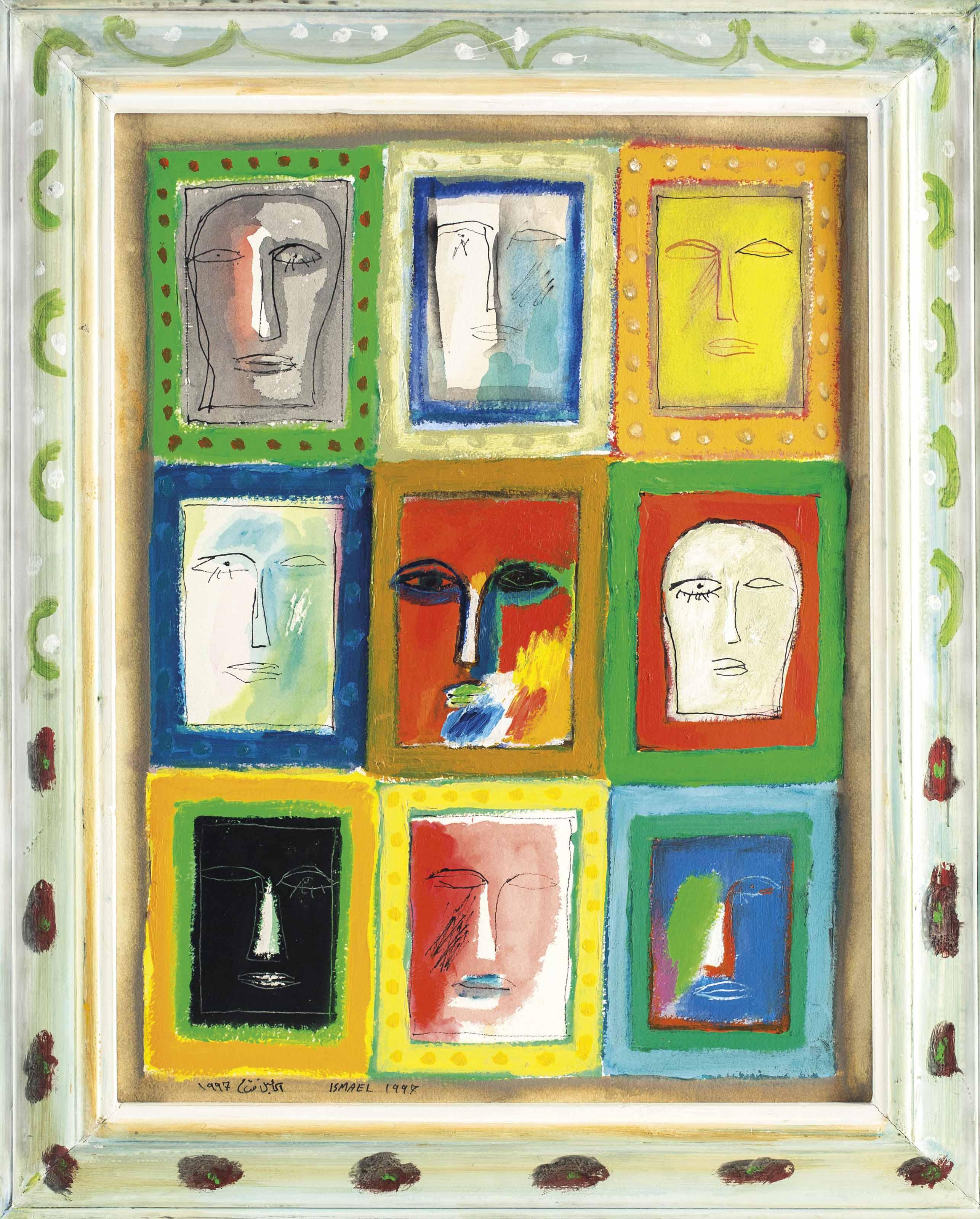 Untitled (Nine Faces)
