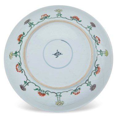 A large famille verte dish, Kangxi period (1662-1722). Estimate                    $800-1,200. This lot is offered in The Art of China Online Autumn Sale, 20-27 September 2017, Online
