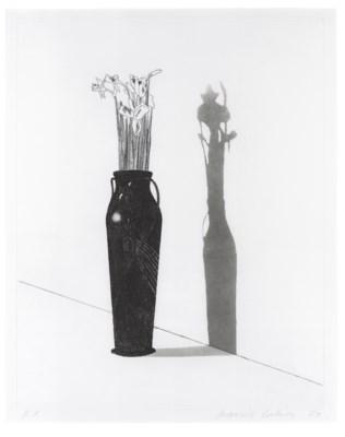David Hockney B 1937 Vase And Flowers Christies