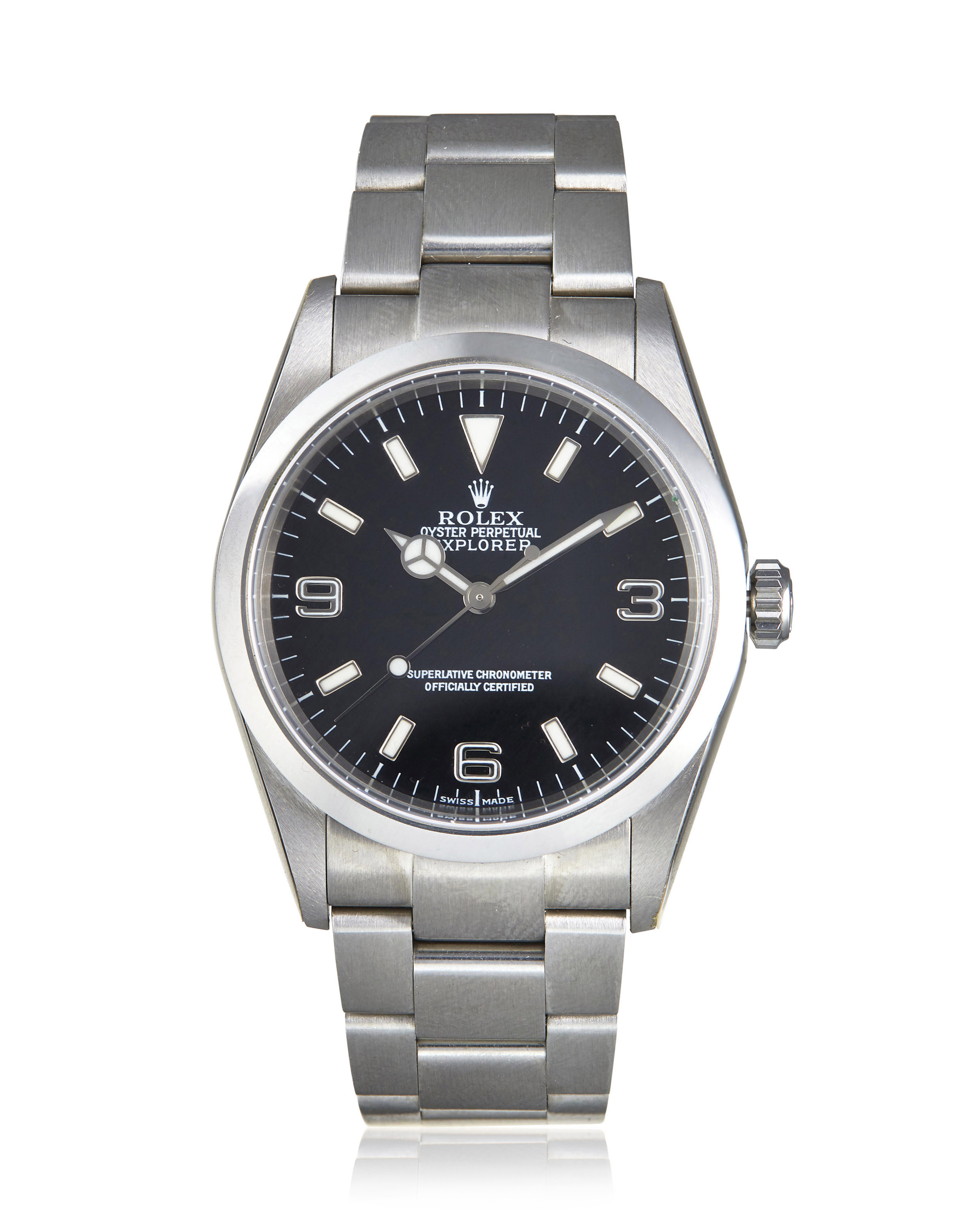 watches upper rolex dial explorer black