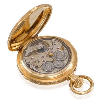 Ekegren. An 18k Gold Quarter Repeating Hunter Case ...