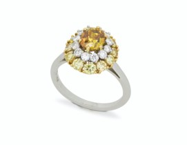 diamond glamour colored weddings engagement rings gallery unique gemstone main colorful stones
