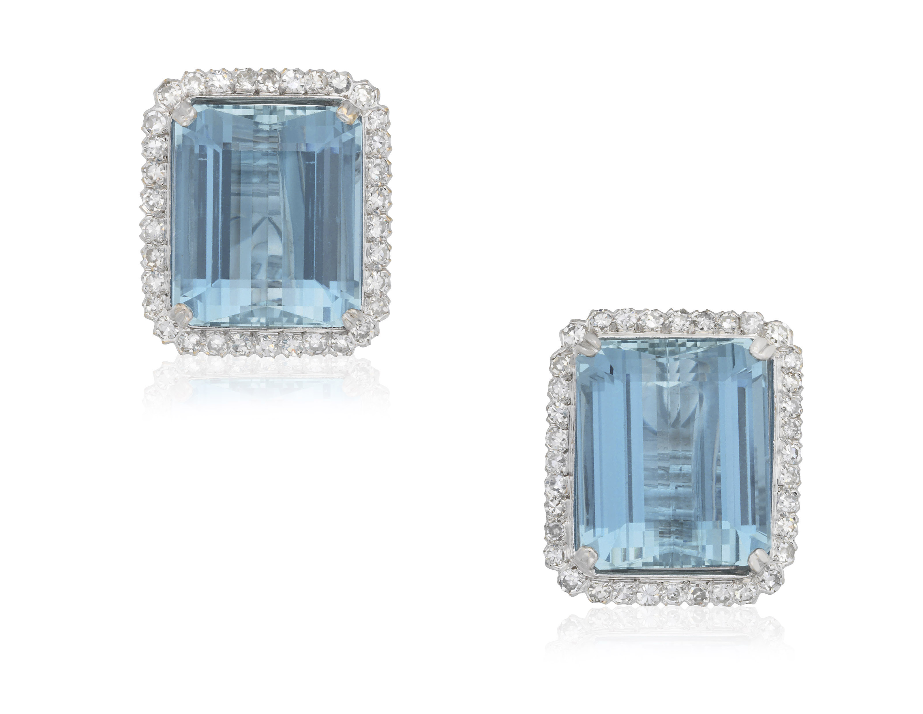 az rectangle byj e silver cz bling jewelry earrings rectangular emerald cut stud diamond